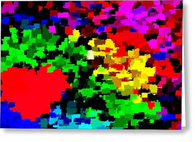 Abstract Valentine 4 Ruc Greeting Card by L Brown