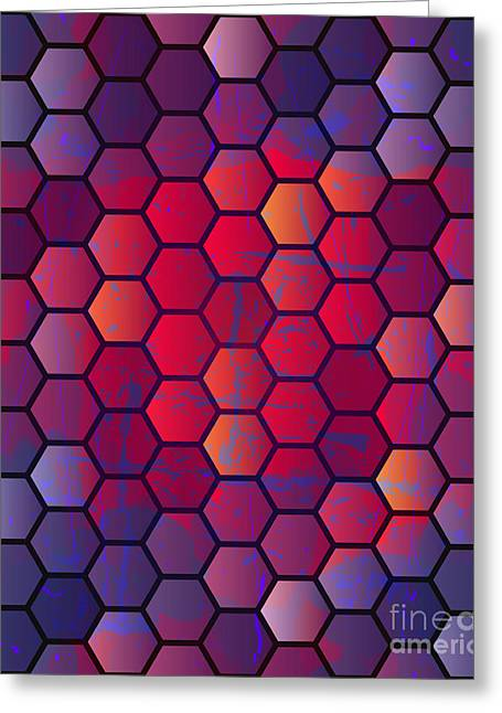 Abstract Vector Geometric Background Greeting Card