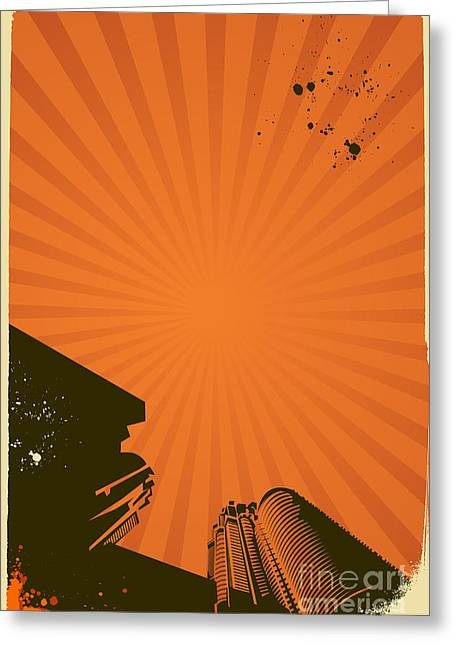Abstract Vector Poster With Stripes Greeting Card by Fet