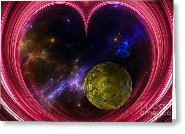 Abstract View Of The Universe Greeting Card by Laxmikant Chaware