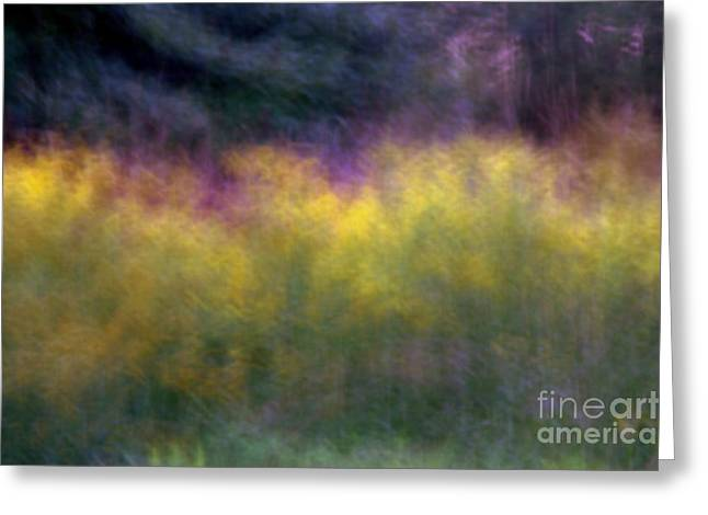 Abstract Viii Goldenrod Greeting Card