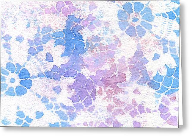 Abstract Vintage Lace Greeting Card