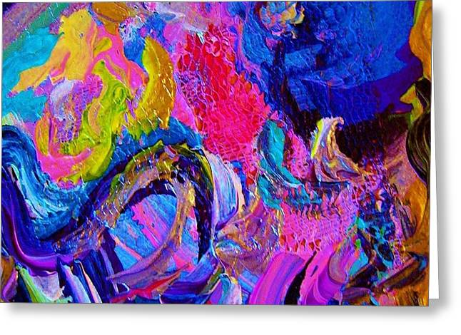Abstract Viscosity Greeting Card by Eloise Schneider