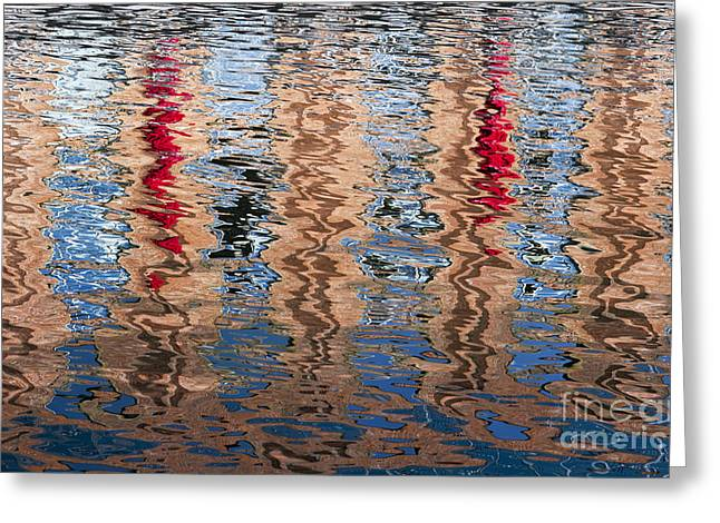 Abstract Water Ripples  Greeting Card by Tim Gainey