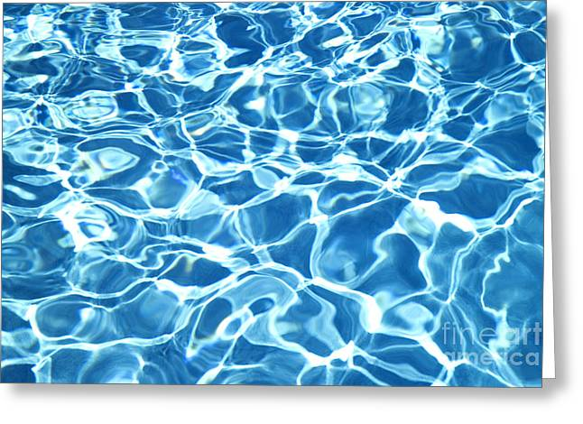 Abstract Water Greeting Card by Tony Cordoza