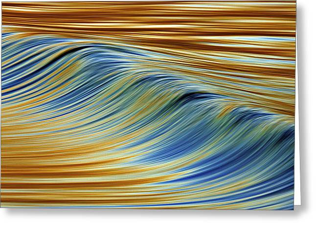 Abstract Wave C6j7857 Greeting Card
