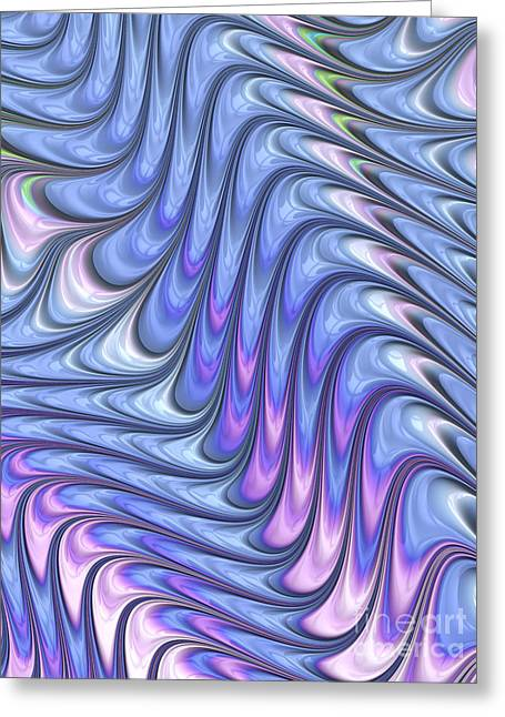 Abstract Waves Greeting Card by John Edwards