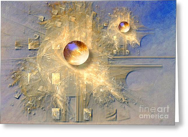 Abstract With Balls Greeting Card by Alexa Szlavics