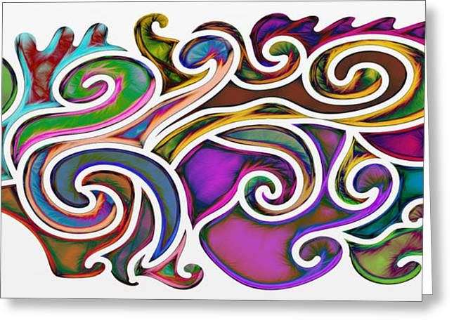 Abstract With Filter Effect Greeting Card
