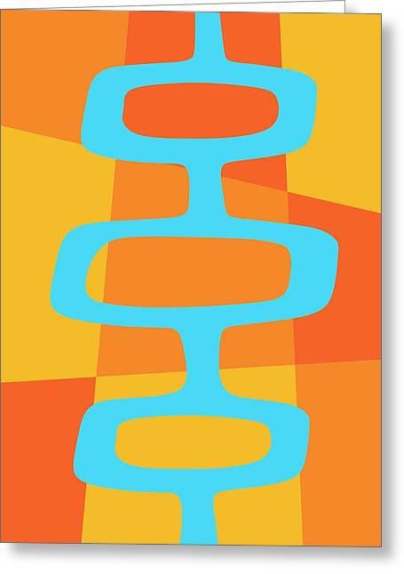 Abstract With Turquoise Pods 3 Greeting Card