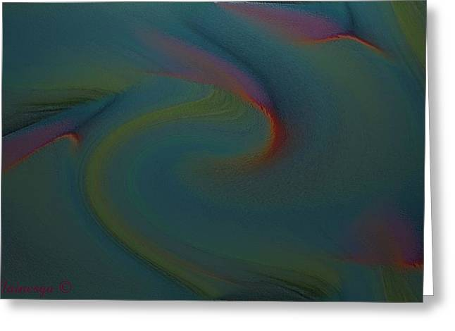Abstract-x-3 Greeting Card by Ines Garay-Colomba