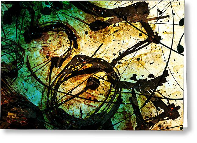 Abstracta_05 Enigma Greeting Card by Gary Bodnar