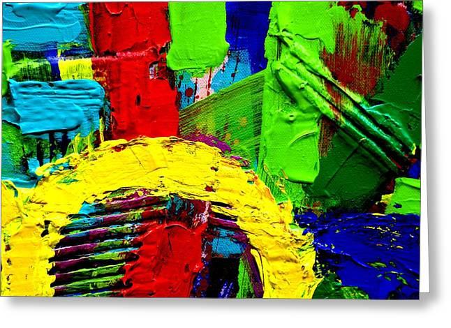 Abstracted I Greeting Card by John  Nolan