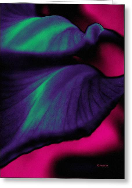 Abstracting Nature's Flow Greeting Card by Georgiana Romanovna