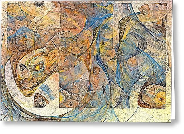 Abstraction 0499 Marucii Greeting Card