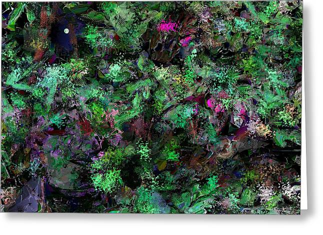 Greeting Card featuring the digital art Abstraction 121514 by David Lane