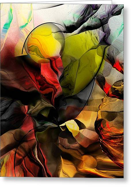Abstraction 122614 Greeting Card by David Lane