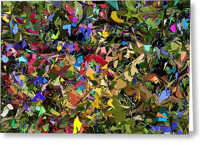 Abstraction 2 0211315 Greeting Card by David Lane