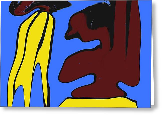 Abstraction 229 Greeting Card by Patrick J Murphy