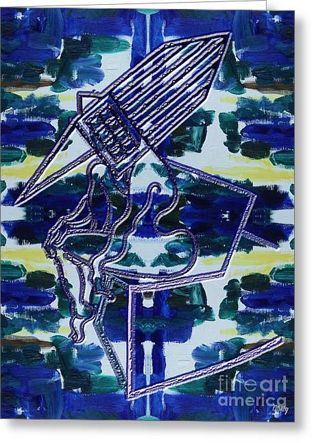 Abstraction 231 Greeting Card by Patrick J Murphy
