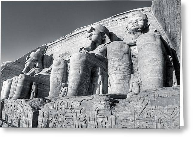 Abu Simbel - Monument To A Pharaoh Greeting Card by Mark E Tisdale