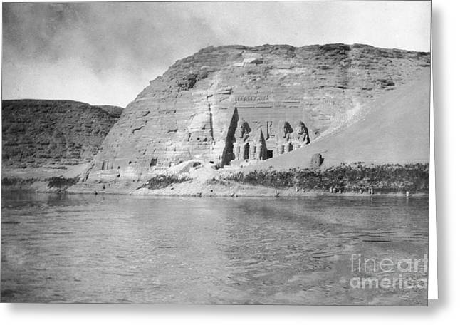Abu Simbel Temple, Egypt, 19th Century Greeting Card by Library Of Congress