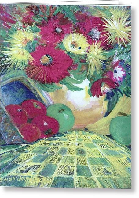 Abundance II Greeting Card by Anne-Elizabeth Whiteway