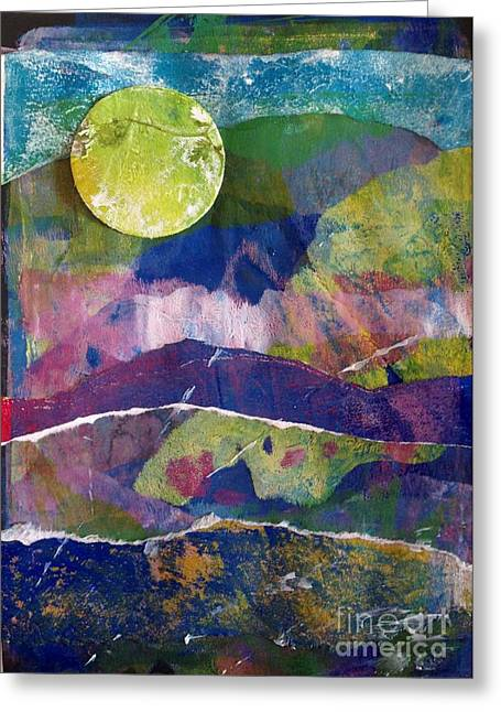 Abundant Moon Greeting Card by Corina  Stupu Thomas