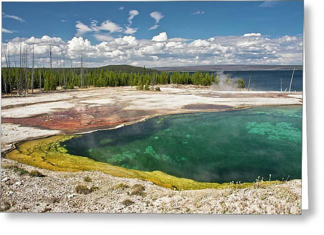 Abyss Pool, West Thumb Geyser Basin Greeting Card