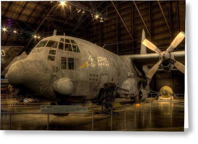 Ac-130 Gunship Greeting Card