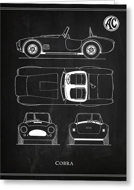 Ac Cobra Greeting Card by Mark Rogan