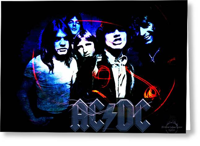 Ac/dc - Rock Greeting Card