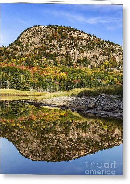 Acadia Beehive Mountain  Greeting Card by John Greim