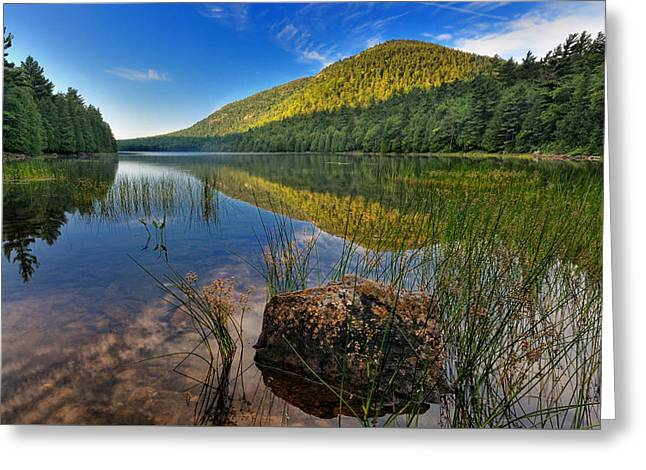 Acadia National Park-bubbles Pond Greeting Card by Thomas Schoeller