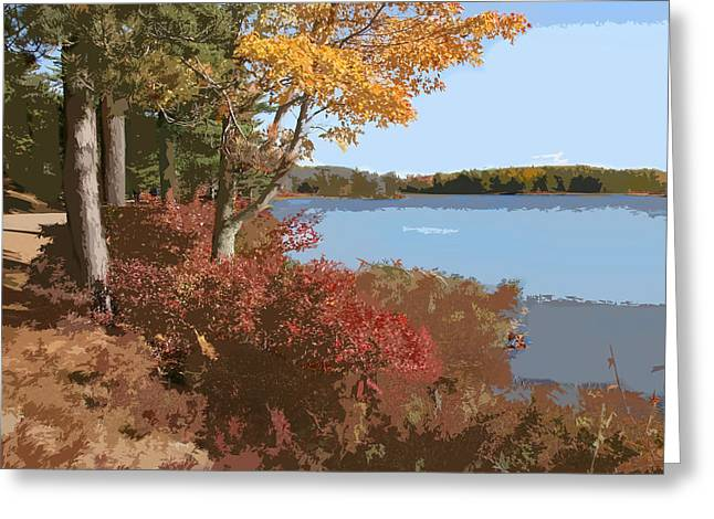 Acadia National Park Carriage Road Greeting Card