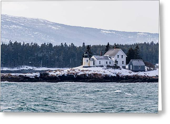 Acadia National Park Schoodic Lighthouse Greeting Card