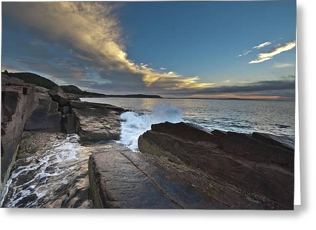 Acadia Sunrise Greeting Card