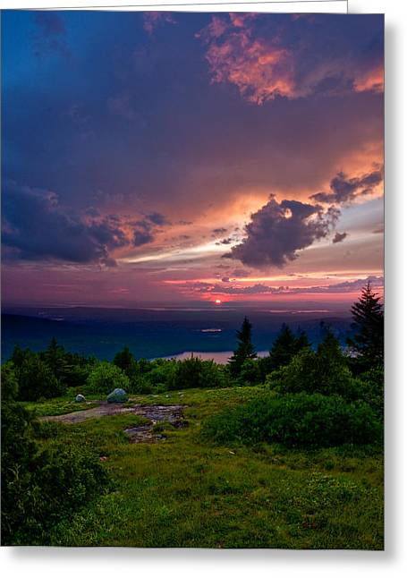 Acadia Sunset 47150 Greeting Card