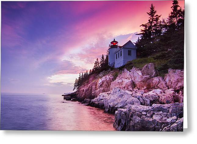 Acadia Sunset Greeting Card