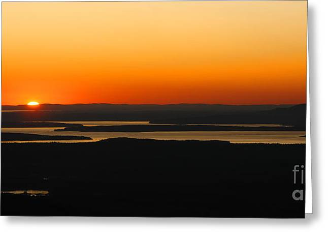 Acadia Sunset Greeting Card by Olivier Le Queinec