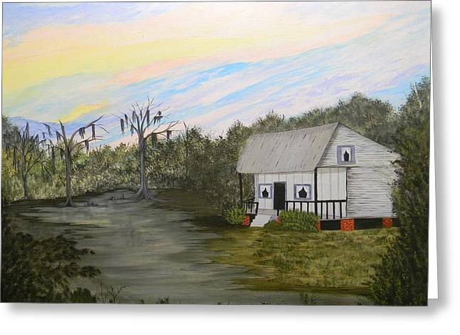 Acadian Home On The Bayou Greeting Card