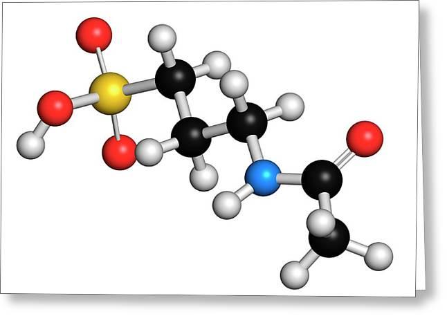 Acamprosate Alcoholism Treatment Drug Greeting Card by Molekuul