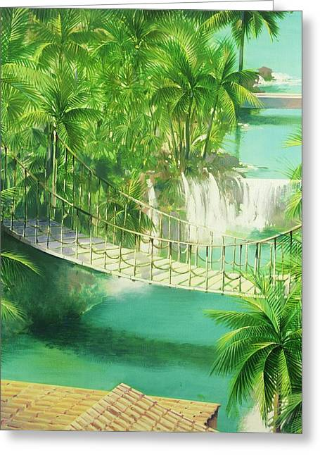 Acapulco Greeting Card by Andrew Hewkin