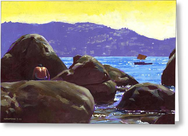 Acapulco Greeting Card by Douglas Simonson
