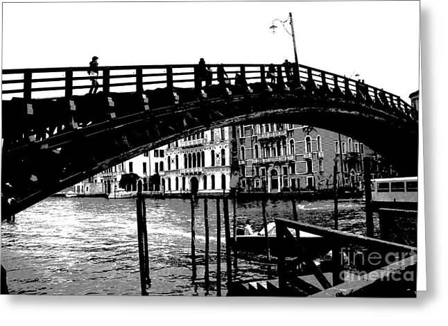 Accademia Bridge - Venice  Greeting Card by Jacqueline M Lewis