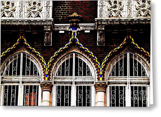 Accentuated Arches Greeting Card by James Aiken