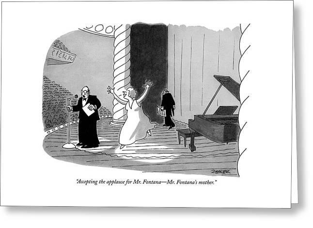Accepting The Applause For Mr. Fontana - Mr Greeting Card