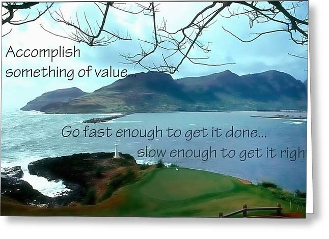 Accomplish Value 21168 Greeting Card by Jerry Sodorff
