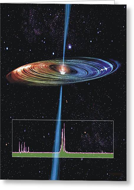 Accretion Disk And Radio Jet Greeting Card