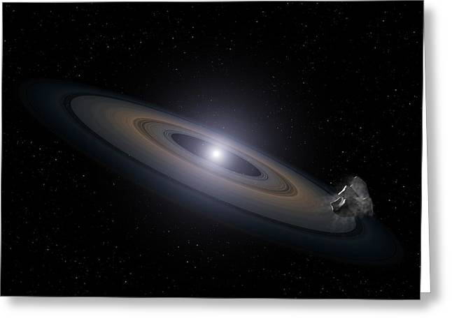 Accretion Disk Around A White Dwarf Greeting Card by Nasa, Esa, And G. Bacon (stsci)